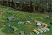 Birds-eye view of T.B.I. campsite